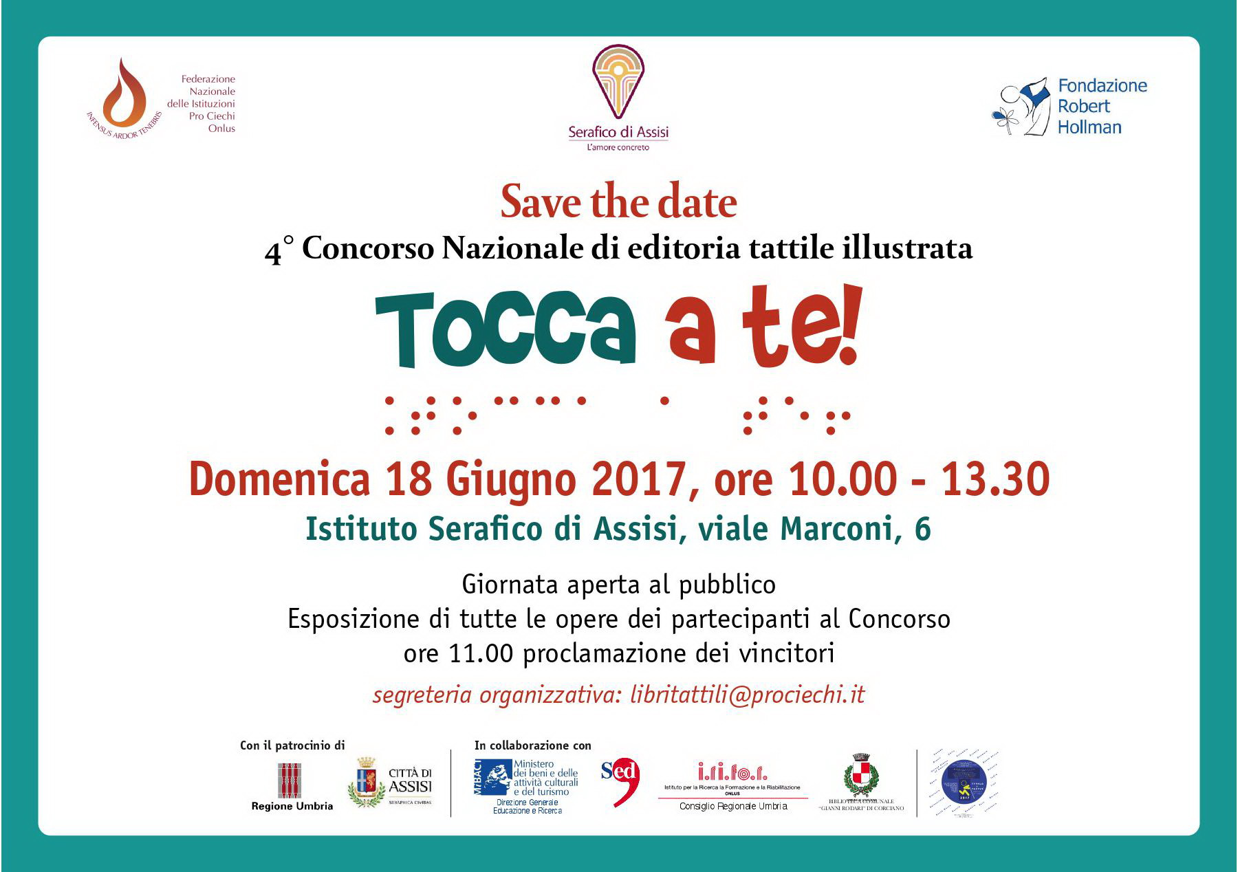 TOCCA A TE! Save the date